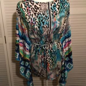 Alberto Makali designed Watercolor Print Tunic. XL